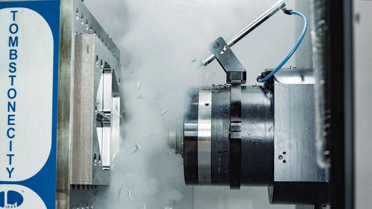 Процесс резания металла с использованием жидкого азота