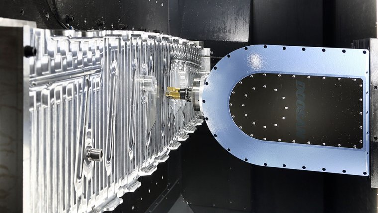Процесс обработки сложной детали из алюминия